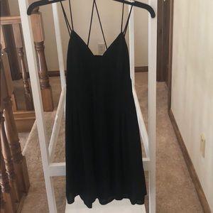 Black Express open back mini dress